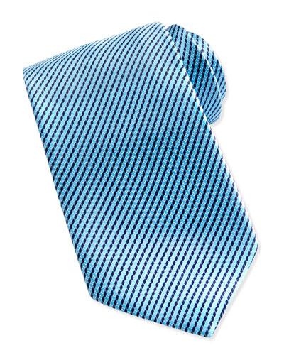 Ermenegildo Zegna Printed Micro-Neat Silk Tie, Aqua