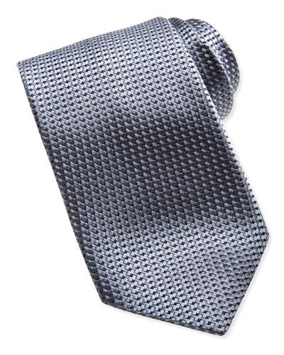Ermenegildo Zegna Textured Solid Tie, Gray