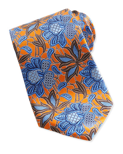 Ermenegildo Zegna Oversize-Flower Tie, Orange