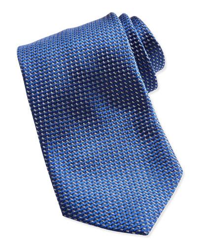 Ermenegildo Zegna Textured Solid Tie, Blue