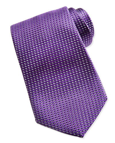 Ermenegildo Zegna Textured Solid Tie, Purple