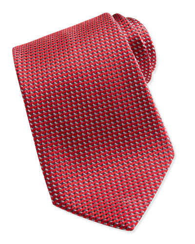 Ermenegildo Zegna Textured Solid Tie, Red