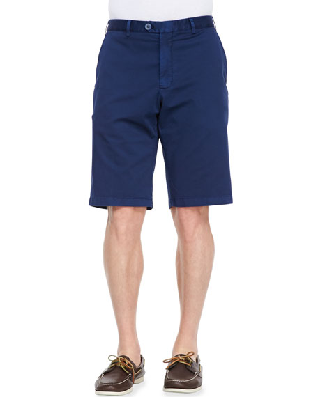 Italian Twill Shorts, Blue