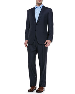 Brioni Striped Suit, Navy