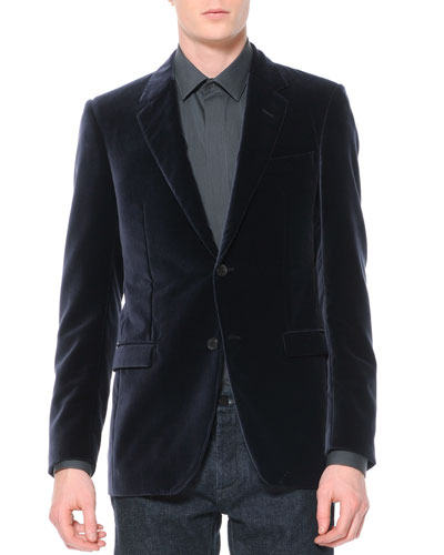 Lanvin Velvet Evening Jacket, Violet