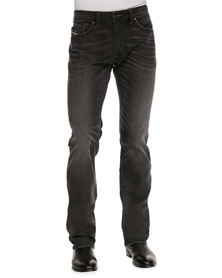 Safado Whiskered Jeans, Dark Gray
