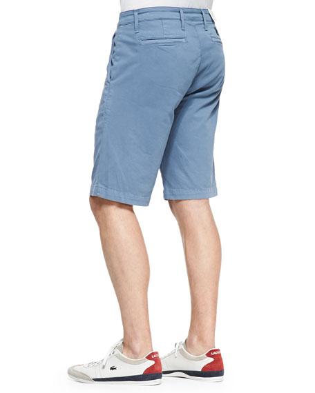 Oceanic Flat-Front Shorts, Blue
