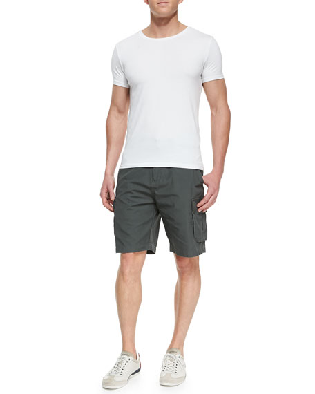 Canvas Cargo Shorts, Dark Gray