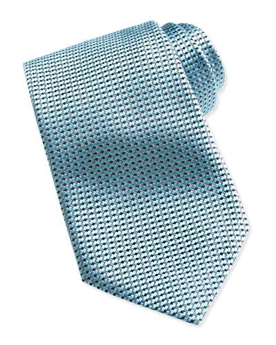Ermenegildo Zegna Textured Solid Tie, Aqua