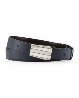 Alfred Dunhill Palladium-Taper-Buckle Belt