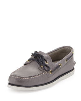 Sperry Top-Sider Gold Cup Authentic Original Boat Shoe, Gray