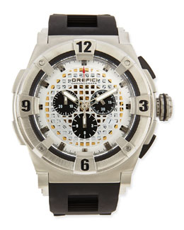 Orefici Watches Regata Evolution Chronograph Watch, Stainless Steel/Black