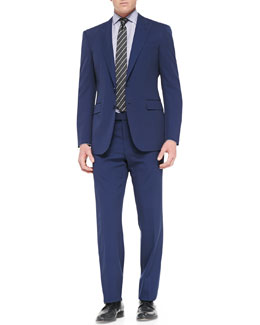 Ralph Lauren Black Label Anthony Two-Piece Pindot Suit, Blue