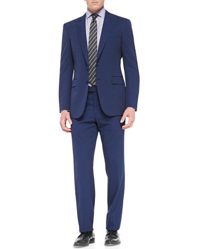 Ralph Lauren Black Label Anthony Two-Piece Pindot Suit, Blue