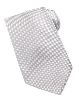 Giorgio Armani Formal Textured Silk Tie, Silver