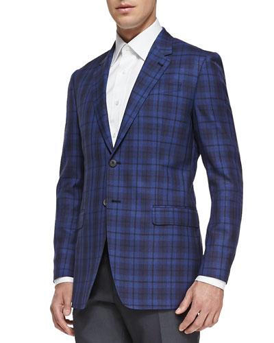 Paul Smith The Byard Plaid Jacket, Bright Blue