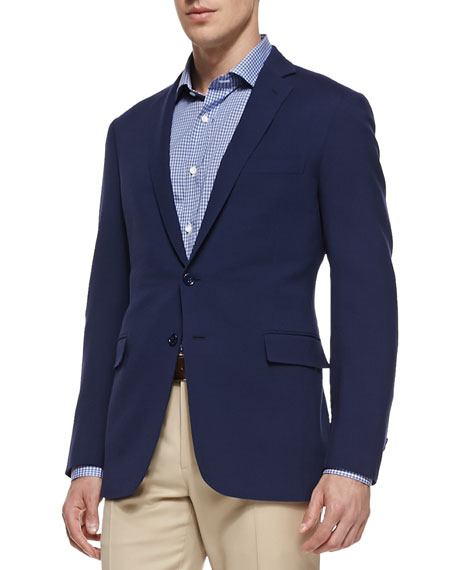 Nigel Textured Jacket, Bright Blue