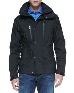 Ralph Lauren Black Label Weatherproof Hooded Jacket, Black