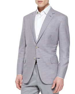 Brioni Tic Weave Jacket, Purple/Blue