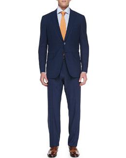 Isaia Plaid Two-Piece Suit, Blue