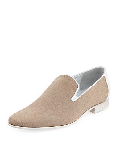 Donald J Pliner Nor Men's Texture Slip-On Loafer, Natural
