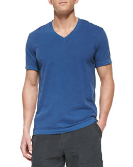 James Perse Jersey V-Neck Tee, Blue