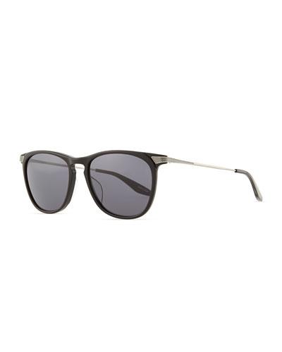 Barton Perreira Hakan Square Sunglasses, Black