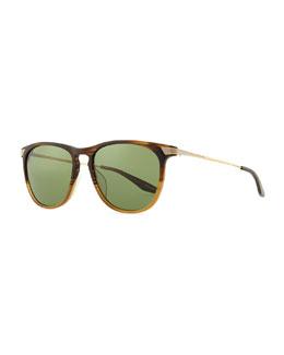 Barton Perreira Hakan Square Sunglasses, Gradient Brown
