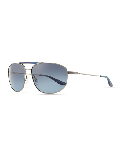 Barton Perreira Libertine Pewter Aviator Sunglasses