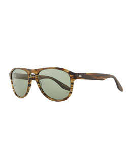 Barton Perreira Rocco Teardrop Sunglasses, Green