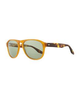 Barton Perreira Rocco Teardrop Sunglasses, Orange