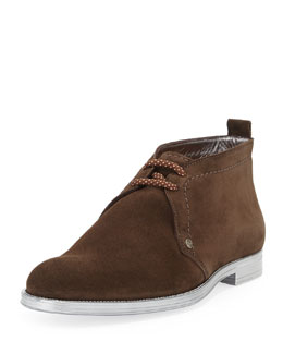 Jimmy Choo Dunraven Men's Suede Chukka Boot, Brown