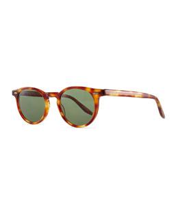Barton Perreira Banks 48 Round Sunglasses, Orange