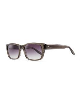 Barton Perreira Caine Rectangular Sunglasses, Gray
