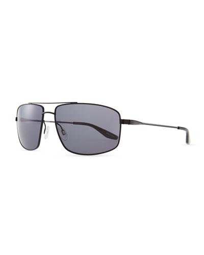 Barton Perreira Hockett Aviator Sunglasses, Black