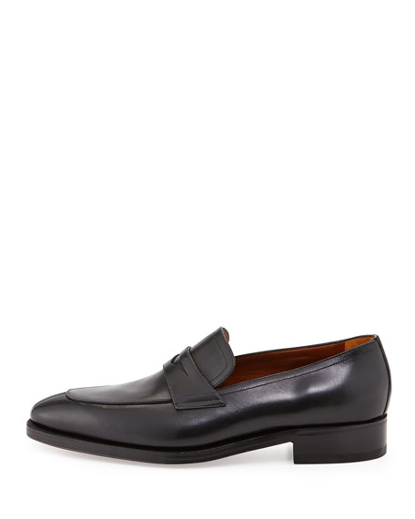 Lux Calfskin Penny Loafer, Black