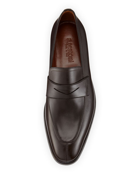 Lux Calfskin Penny Loafer, Brown
