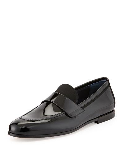 Salvatore Ferragamo Roxy Patent Leather Loafer, Black
