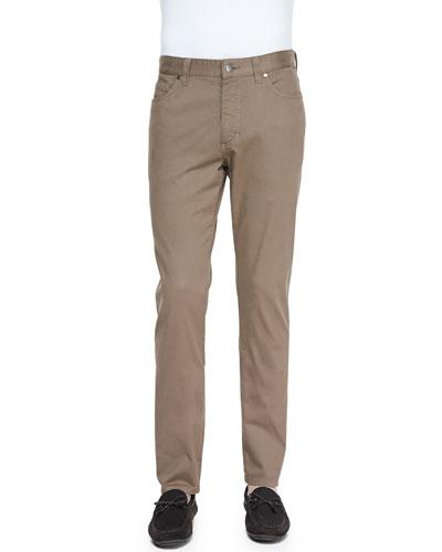 Ermenegildo Zegna Five-Pocket Pants, Mushroom