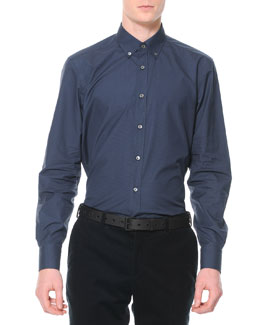 Lanvin Printed Button-Down Collar Shirt