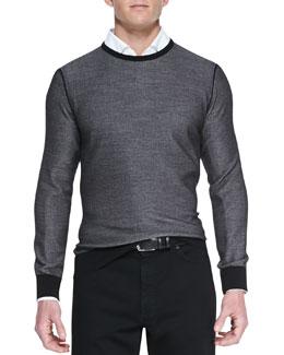Ermenegildo Zegna Crewneck Athletic Sweater