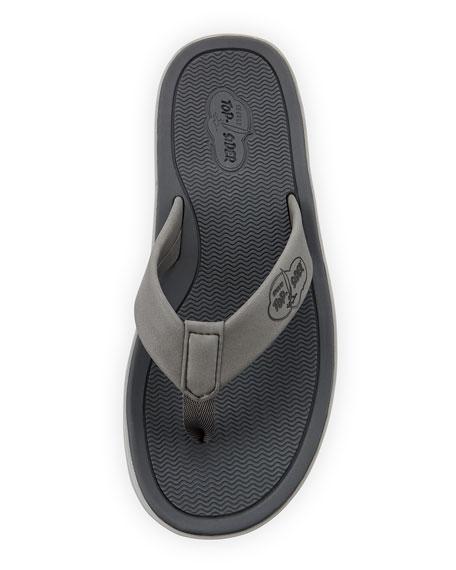 Men's Rubber Flip-Flop Sandal, Gray