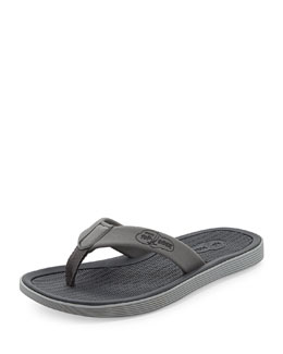 Sperry Top-Sider Men's Rubber Flip-Flop Sandal, Gray