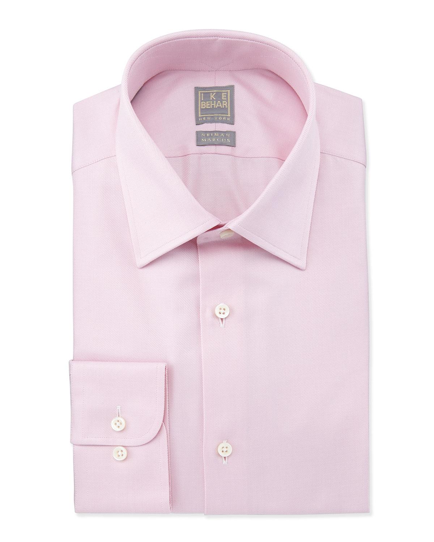 Ike Behar Solid Textured Dress Shirt 456cb8208aea