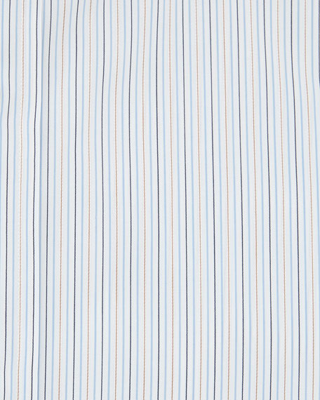 Mini-Stripe Dress Shirt, Light Blue/Yellow