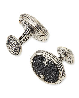 KONSTANTINO Pave Spinel Cuff Links