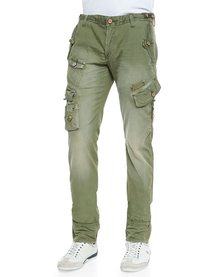 PRPS Cypress Safari Cargo Pants, Olive
