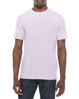Vince Slub-Knit Tee, Light Purple