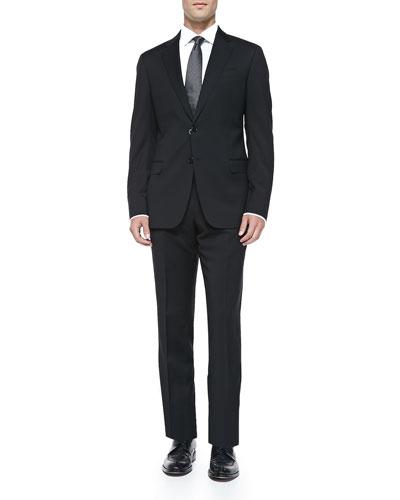 Armani Collezioni Basic Wool Suit, Black