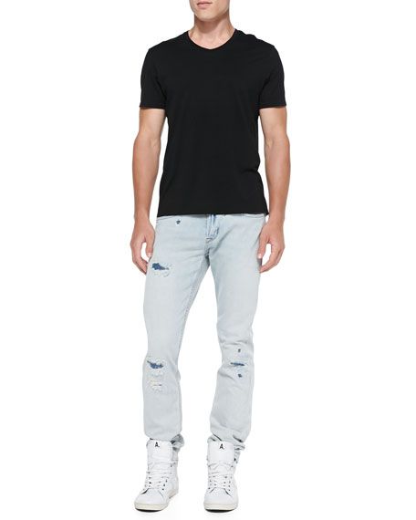 Blake Runaround Slim Ripped Denim Jeans